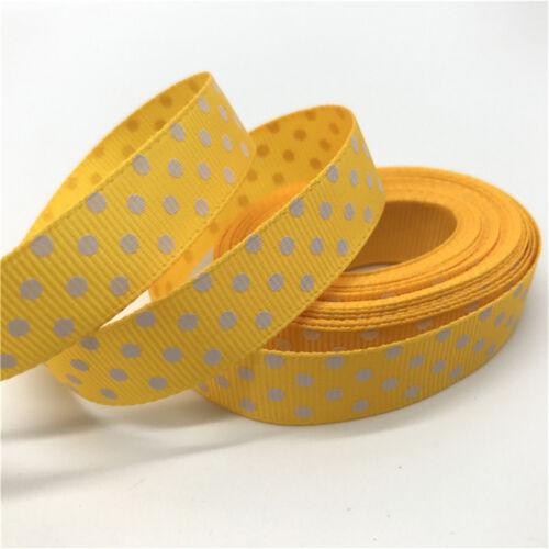 "5Yards 5//8/""15mm Polka Dots Grosgrain Ribbon DIY Bow Wedding Christmas Decoration"