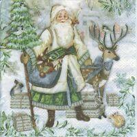 3 Cocktail Servietten Napkins Santa Claus - Weihnachtsmann - Nikolaus - cv081