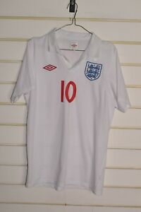 England-Football-Shirt-Jersey-By-Umbro-Rooney-Size-Small-Ref-A1
