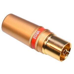 TV-Antennen-Buchse-Vergoldet-Schraubbuchse-Antennenkupplung-Lotversion-Stecker