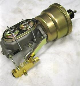 "1-1//8/"" Master Cylinder Disc Drum Valve Kit 7/"" Single Zinc Power Brake Booster"