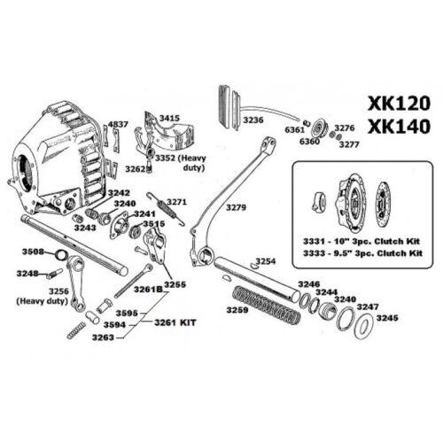Jaguar XK120 /& XK140 /& XK150 Bush En Carcasa De Embrague Par 3243 C584