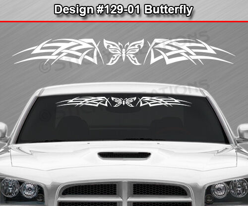 #129-01 BUTTERFLY Celtic Knot Windshield Decal Window Sticker Vinyl Graphic Car