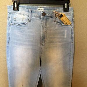 Sneak-Peek-Juniors-Distressed-Jeans-Light-Wash-Size-9