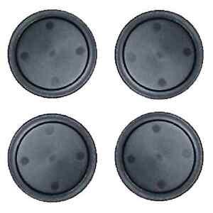 4  Black Home Air Pucks 2.5 inch for Table Hockey.