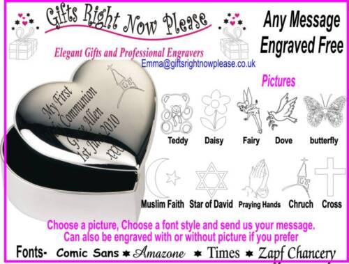 Christening Gift Personalised Heart Trinket Box