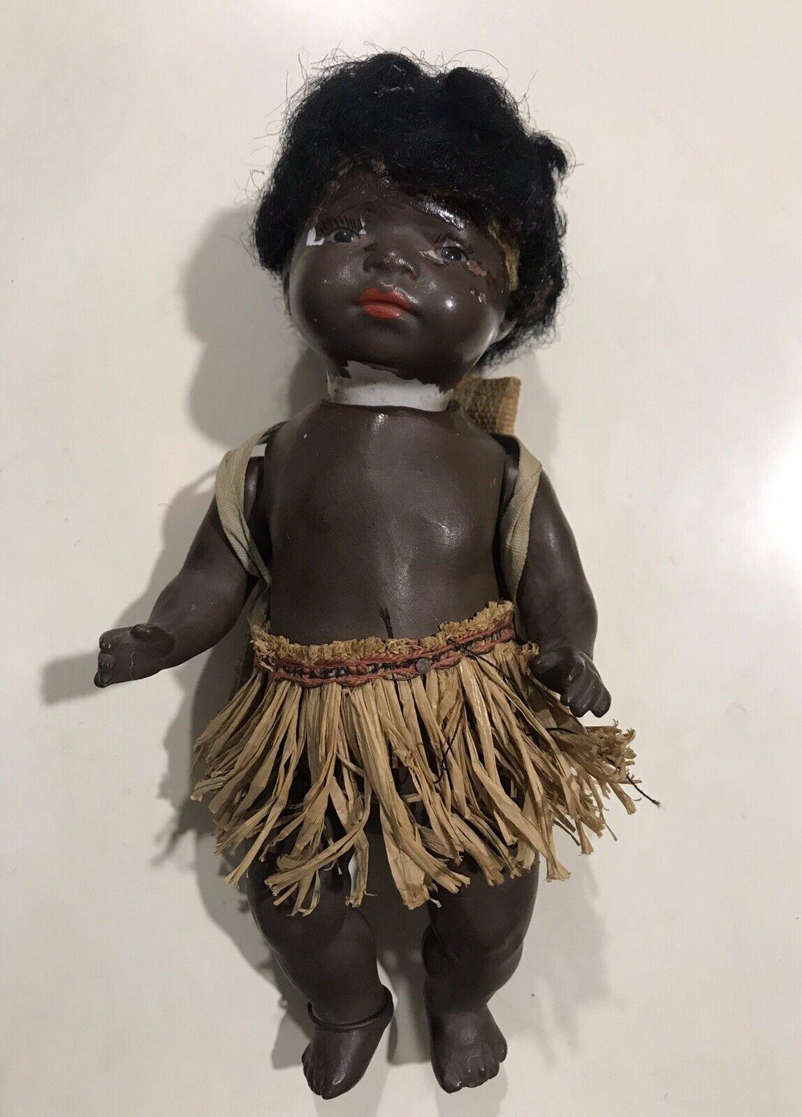 Antique german Deutsche doll bambola HEUBACH KOPPELSDORF negro Woman