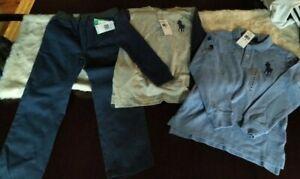Nuevo Con Etiquetas Chicos Lote 3 Talla 6 Top Y Pantalones Polo Ralph Lauren Ps Aeropostale Ebay