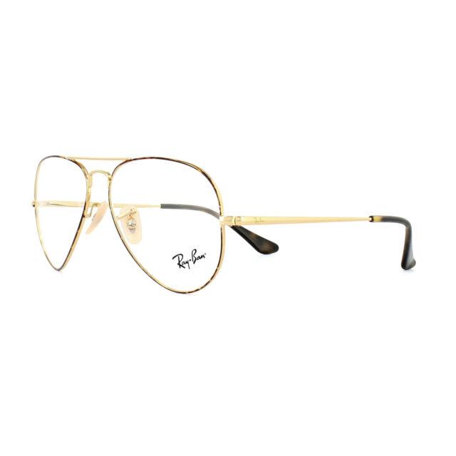 46cfbd67e2 Ray-Ban Glasses Frames 6489 Aviator 2945 Gold Top on Havana 55mm Mens Womens