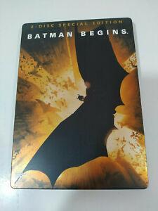 BATMAN-Begins-Christopher-Nolan-Bale-2-X-DVD-Steelbook-Deutsch-English-Am