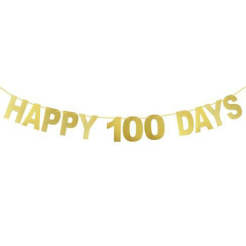 Baby Birthday Happy 100 Days Letter Pattern Banner Party Bunting Garland Decor