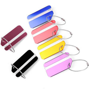 Metal-New-Luggage-Tags-Suitcase-Label-Name-Address-ID-Bag-Baggage-Tag-Travel