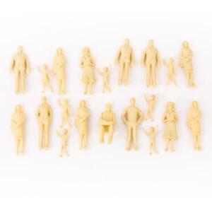Details about 20pcs Unpainted Train People Figures Mix Poses for Kids  Imagination Education