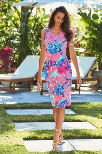 New Lilly Pulitzer Jordyn Midi Dress I'm So Jelly Coral Reef TASSELS S L
