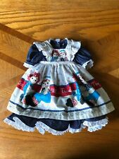 Handmade American Girl Doll Raggedy Ann Dress