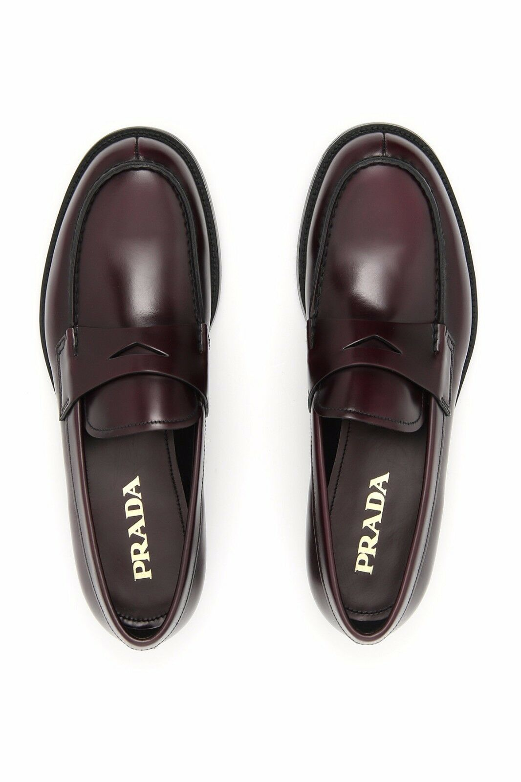 Mens Prada Loafers shoes, Size 10, Gordovan