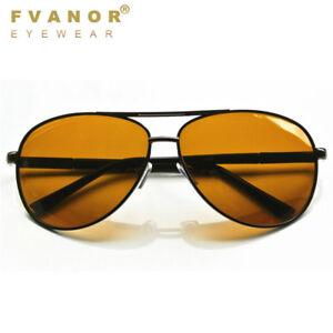 c2cbcb4f550 HD Night Vision Polarized Glasses Pilot Driving Aviator Sunglasses UV400  Eyewear