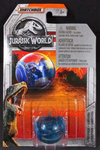 MOC 2018 Matchbox Jurassic World™ #16 Gyrosphere BLUE METALLIC