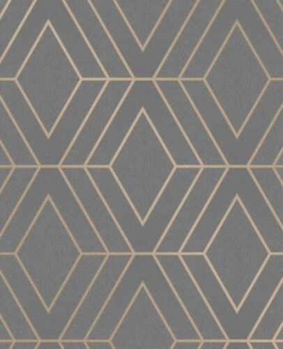 Fine Decor Pulse Diamond anthracite Paillettes Papier Peint FD42352