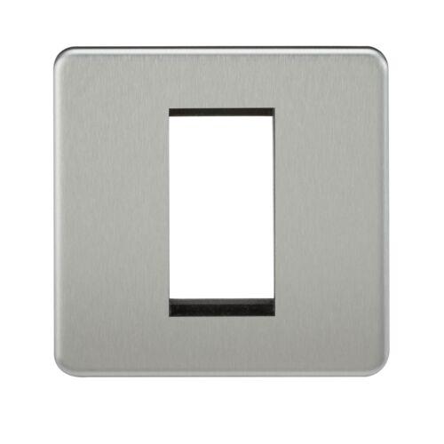 Euro module plaques chrome brossé nickel noir laiton simple double multimédia