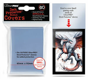 60-Ultra-Pro-Small-Mini-Over-Cover-Deck-Protector-Fit-Sleeve-Clear-Outer-84355