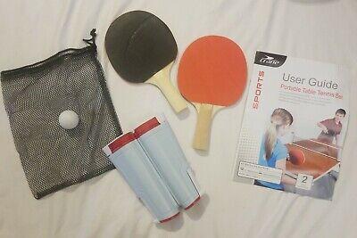 6 Balls Instant Table Tennis Kit Ping Pong Set Retractable Net Rack 2 Bats