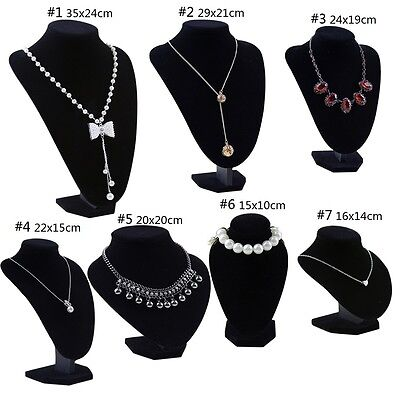 Velvet Necklace Stand Jewellery Retail Shop Tall Display Large Bust Holder UK