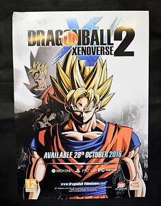 Details about DRAGONBALL XENOVERSE 2 - OFFICIAL RARE A2 PROMOTIONAL POSTER  (NOT A GAME)