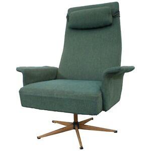 Mid-Century-Danish-Modern-High-Back-Swivel-Rocker-Lounge-Chair