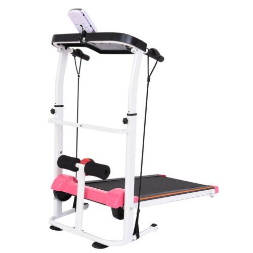 Folding Treadmill Walking Machine Indoor Cardio Sit Up Bench w// LCD Display