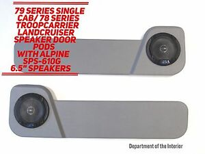 Toyota-LandCruiser-78-79-Series-Single-Cab-Speaker-Door-Pods-Alpine-Speakers