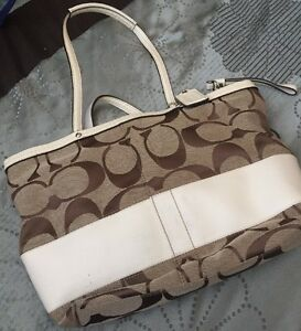 Authentic Coach Wei Purse Beige Und q6xCFq