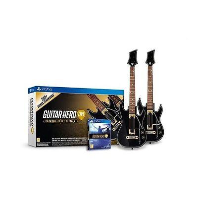 Guitar Hero Live Supreme Party Edition PS4 Playstation 4 Bundle 2 Guitar & Game