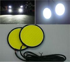 2X 6000K 10W COB LED Daytime Driving Running Light DRL Car Fog Lamp Head LightS9