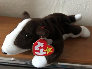 9ad33064259 TY Beanie Baby - Bruno the Terrier - Retired - made in Indonesia