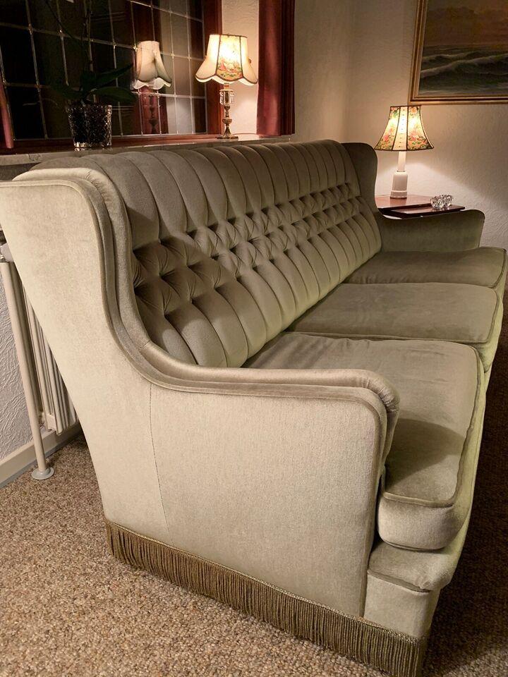 Sofagruppe, velour, anden størrelse