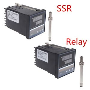 220V Temperature Controller Universal REX-C700 Input Relay SSR Output Thermostat