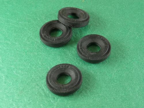 "4 embossed /""CORGI TOYS/"" new rubber TIRES 12 mm square tread for MINI/'S  1967up"