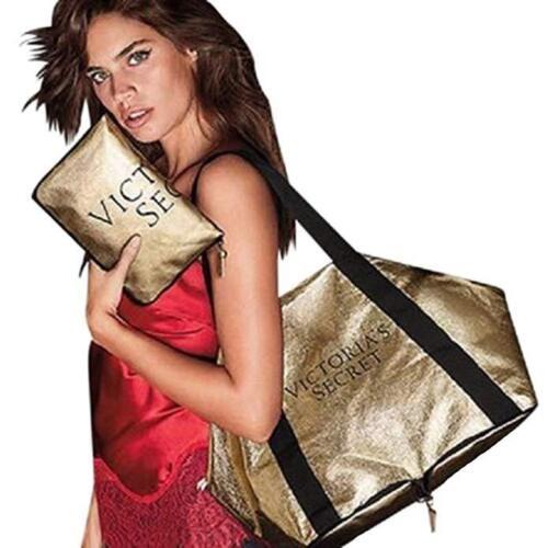 Secret Edición Weekender Duffle Bag Tote Packable Victoria's limitada It Gold fw7HqBq