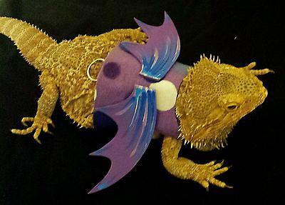 Lil' Bestie Bearded Dragon reptile Harness and Leash 'VERY PURPLE'
