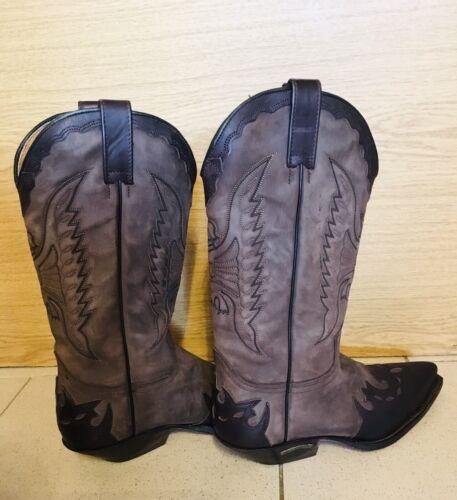Sendra Boots 2560 Negro Damen Herren Westernstiefel Braun Lederstiefel