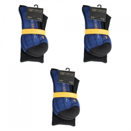 3 Paar Outdoor Trekking Wander Sport Socken von CAMANO schwarz blau 39-42 43-46