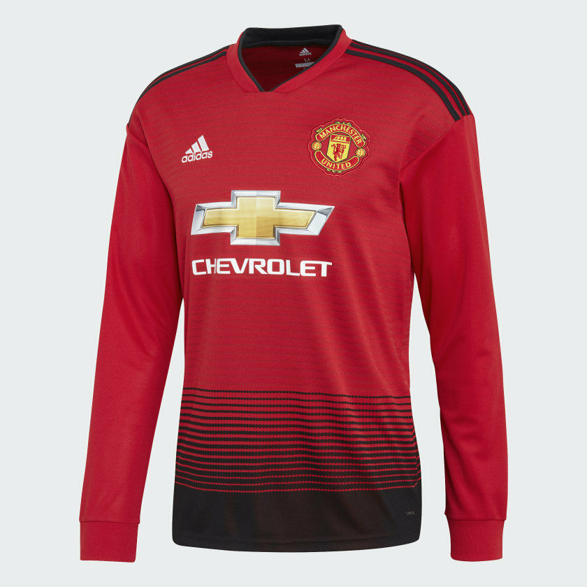 Adidas Manchester United Home Jersey longsleves CG0047 Rojo Negro Talla S agotado