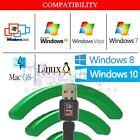 USB WiFi WLAN 150Mbps Wireless Network Adapter 802.11n/g/b Windows MacBook
