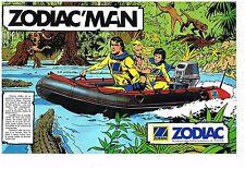 Publicité Advertising 1985 (2 pages) Bateau Pneumatique Zodiac Mark II Futura