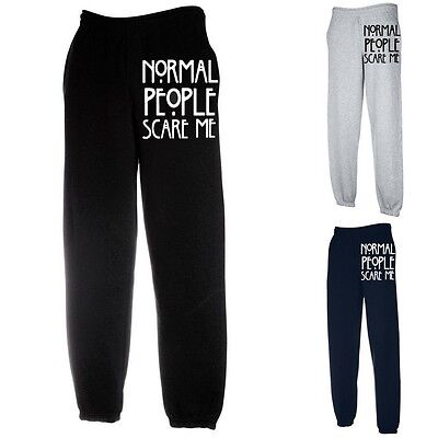 Normal People Scare Me American Horror Jumper Sweatshirt bottom (NORMAL,JOGGER)