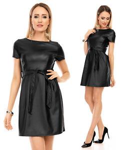 mayaadi kleid minikleid abendkleid partykleid cocktailkleid leder look 316 s m l  ebay
