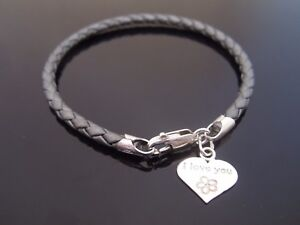 Jewelry & Watches Popular Brand Leather & Sterling Silver Bracelet-genuine 5mm Braided-silver Twist Clasp-grey