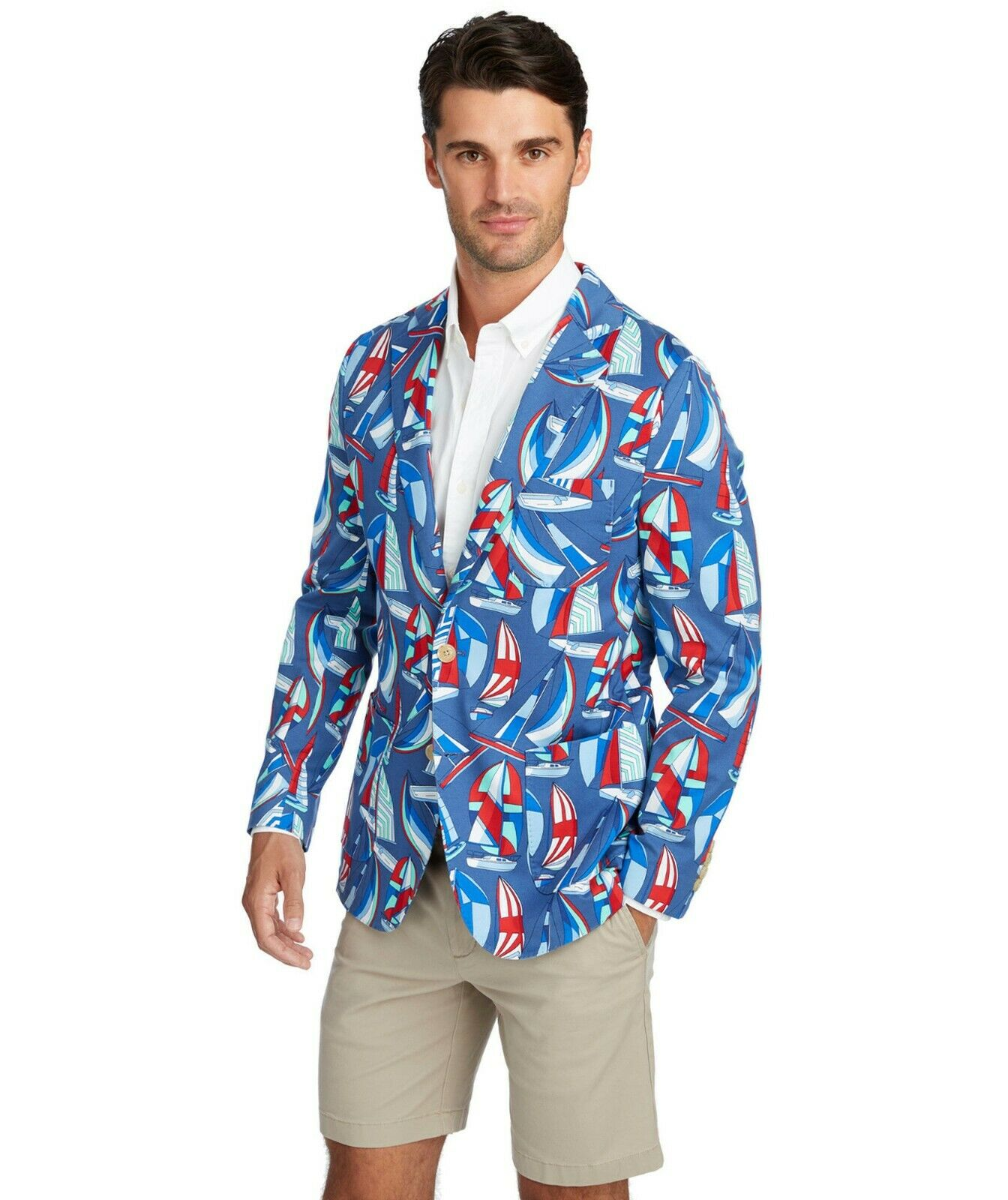 Vineyard Vines - Spin Around The Island Blazer - Sailboat - 1J0162 - Size  44R