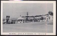 Postcard ROANOKE Virginia/VA  220 Motel Motor Court view 1940's